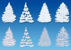 Árvore da neve ilustração royalty free