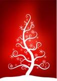 Árvore da neve do Natal Foto de Stock