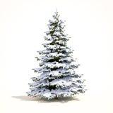 Árvore da neve do White Christmas Fotografia de Stock Royalty Free