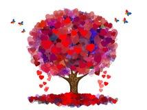 Árvore da paz e do amor Imagens de Stock Royalty Free
