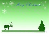 Árvore da rena e de Natal Imagens de Stock