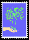 Árvore da silhueta do vetor à disposicão Fotografia de Stock Royalty Free