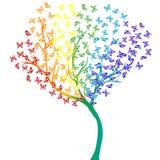 Árvore das borboletas do arco-íris Fotos de Stock