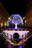 Árvore das luzes foto de stock royalty free