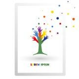 Árvore das mãos, ilustração brilhante Foto de Stock