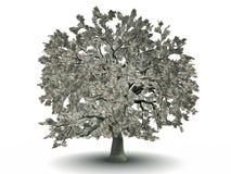 árvore de 100 dólares ilustração stock