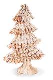 Árvore de abeto abstrata das microplaquetas de madeira para o Natal Fotos de Stock