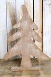 Árvore de abeto de madeira do Natal do close up Imagem de Stock Royalty Free