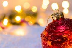 Árvore de abeto do Natal com luzes foto de stock royalty free