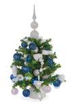 Árvore de abeto do Natal decorada Fotos de Stock Royalty Free