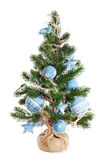 Árvore de abeto do Natal decorada com brinquedos Fotos de Stock