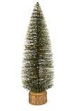 Árvore de abeto do Natal isolada no fundo branco Imagens de Stock