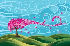 Árvore de amor Imagem de Stock Royalty Free