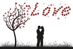 Árvore de amor Fotos de Stock