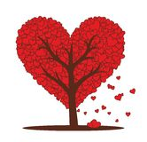 Árvore de amor Fotos de Stock Royalty Free