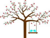 Árvore de amor da flor da mola Imagem de Stock