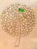 Árvore de amor ecológica foto de stock