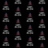 Árvore de ano novo feliz e de Natal com teste padrão sem emenda do vetor da bandeira americana fotos de stock royalty free