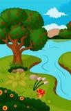 Árvore de Apple bonita na natureza Ilustração Royalty Free