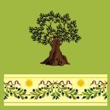 Árvore de azeitonas. ilustração royalty free