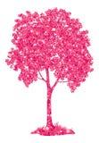 Árvore de castanha com folhas e borboletas Imagens de Stock Royalty Free