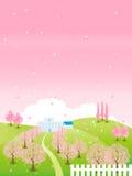 Árvore de cereja bonita ilustração stock