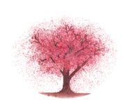 Árvore de cereja da aquarela Foto de Stock Royalty Free