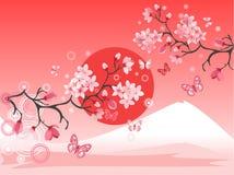 Árvore de cereja japonesa ilustração royalty free