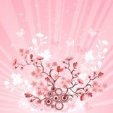 Árvore de cereja japonesa ilustração do vetor