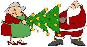 A árvore de Claus ilustração royalty free