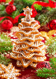 Árvore de cookies do gengibre Imagem de Stock Royalty Free