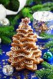 Árvore de cookies do gengibre Fotografia de Stock Royalty Free