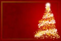 Árvore de Cristmas - cartão dos cristmas Fotografia de Stock