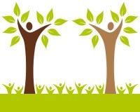 Árvore de família dos povos Fotos de Stock