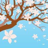 Árvore de florescência ilustração do vetor