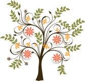 Árvore de florescência, vetor Imagens de Stock Royalty Free