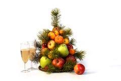 Árvore de fruto nova para o feriado fotografia de stock