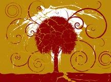 Árvore de Grunge ilustração royalty free