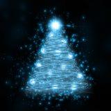 Árvore de incandescência azul Imagem de Stock