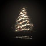 Árvore de luzes de brilho Foto de Stock Royalty Free