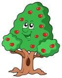 Árvore de maçã bonito Imagem de Stock Royalty Free