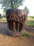 Árvore de madeira de sculpture fotografia de stock royalty free