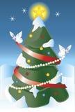 A árvore de Natal Foto de Stock