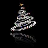 árvore de Natal 3D Fotografia de Stock Royalty Free