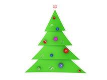 árvore de Natal 3D Imagem de Stock
