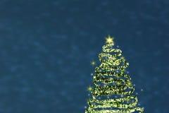 Árvore de Natal abstraia o fundo ilustração stock