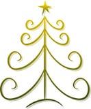 Árvore de Natal abstrata Fotos de Stock