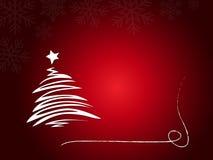 Árvore de Natal abstrata Fotografia de Stock Royalty Free