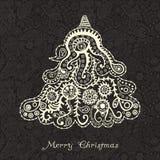Árvore de Natal abstrata ilustração stock
