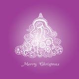 Árvore de Natal abstrata ilustração do vetor